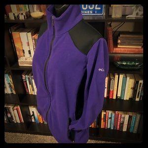 Columbia Purple & Black Full Zip Fleece Jacket